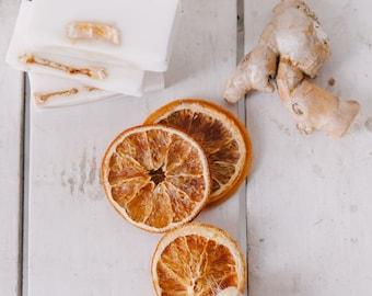 orange + ginger  | organic bar soap | glow | radiant skin