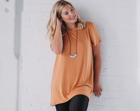 Marigold Bamboo T-Shirt // Mustard Dress// Black Tunic// Made from Bamboo Fabric // Made in CANADA