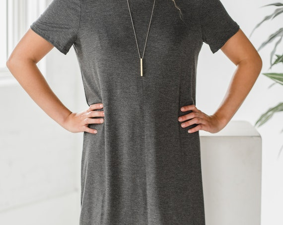 Light Grey Bamboo T-Shirt Dress // Dress // Tunic // Made from Bamboo Fabric // Made in CANADA