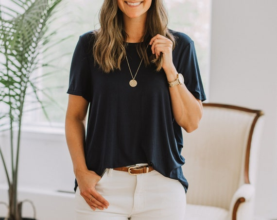 Navy Bamboo T-Shirt // Made from Bamboo Fabric // Made in CANADA