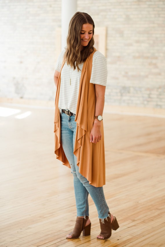 Marigold Bamboo Vest // Made in Canada