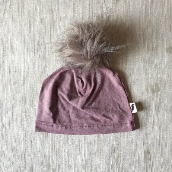 Baby and Toddler Toque  // Bamboo Fabric // Toque with Pom-Pom // Made in Canada