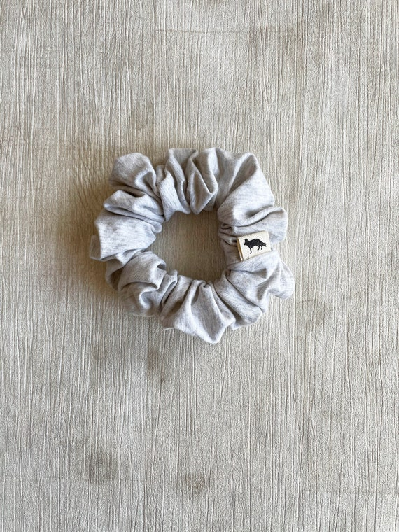 Scrunchies // White grey organic cotton // Available in three different sizes// Made in Canada