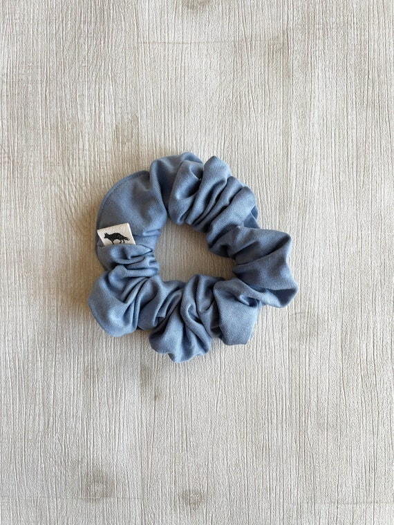 Scrunchies // Light Blue Bamboo // Available in three different sizes// Made in Canada