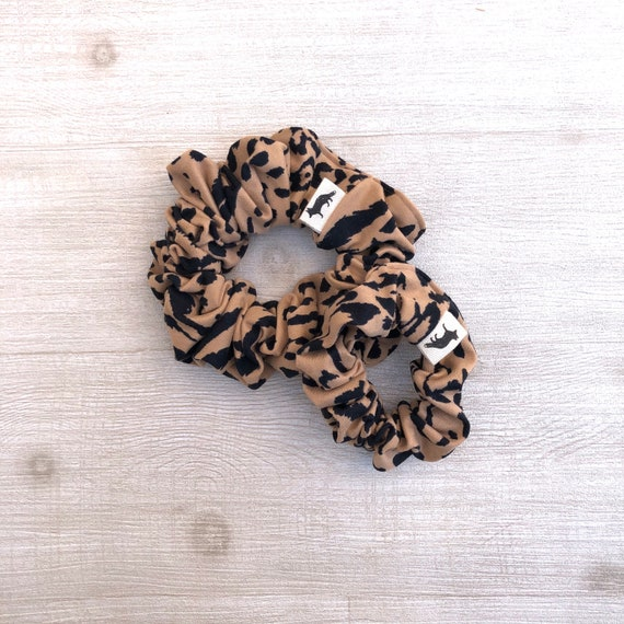 Scrunchies // Leopard Big & Mini// Set of Two Scrunchies // Made in Canada // Mom and Daughter matching set