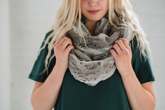Fox Faux Fur Circle Scarf // Infinity Scarf // Made in Canada
