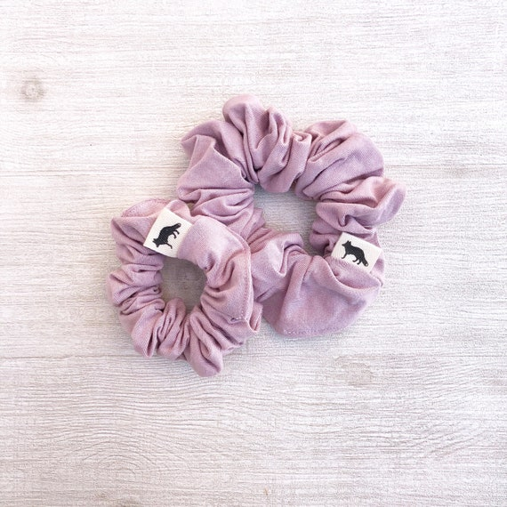 Scrunchies // Blush Big & Mini // Set of Two Scrunchies // Made in Canada // Mom and Daughter matching set