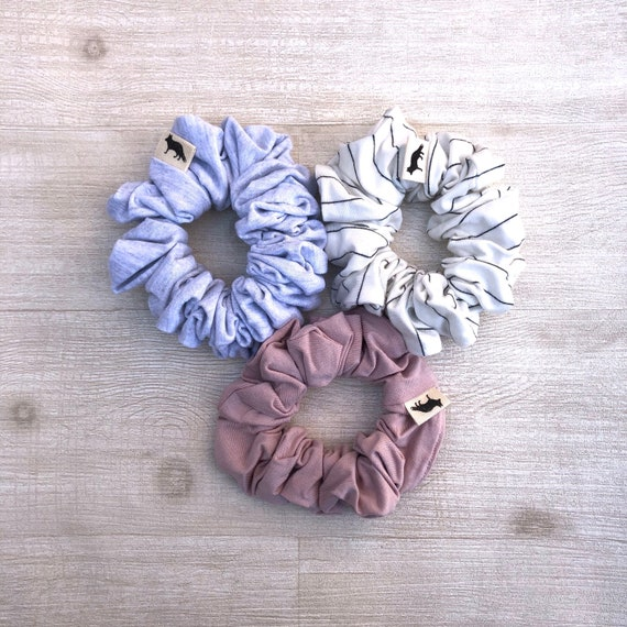 Scrunchies // Neutral Palette  // Set of Three Big Scrunchies // Made in Canada