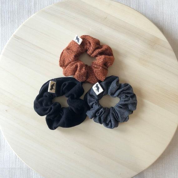 Scrunchies // Pumpkin Spice //  Set of Three MINI Scrunchies  // Made in Canada