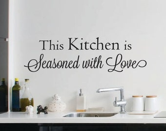 Kitchen Seasoned with Love - Kitchen Wall Decal - Home Decor