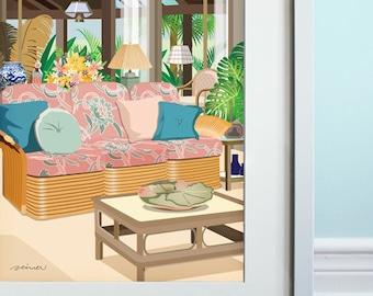 Golden Girls, Inspired Living Room - Art Print, TV show, Fan Art