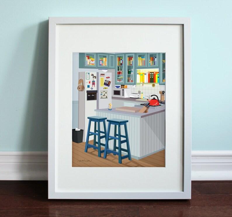 Jerry's Apartment Kitchen  Art Print TV sitcom Seinfeld image 0