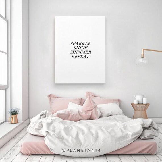 Sparkle shine shimmer repeat poster stampa quadro frase for Poster arredo casa