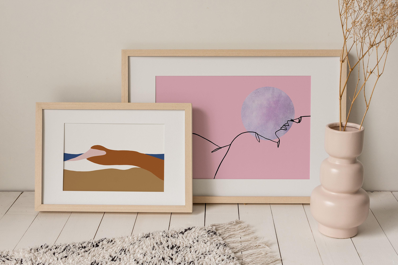 Frau liegen eine Seite Fine Art Print abstrakte nackte   Etsy