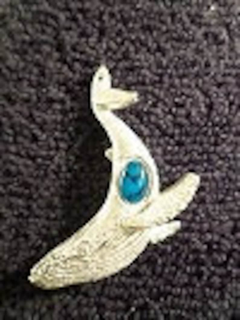 New..Pewter Glass casting pendant..{ Humpback Whale }