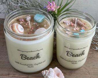 beach scent beach gift beach waves mason jar candle beach scent Beach Waves Soy Candle beach lovers gift beach waves soy candle