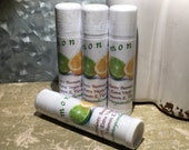 Lemon Lime Lip Balm, Natural, Gifts for Her, Gifts For Him, Party Favor, Chapstick, Lip Gloss, Beeswax Lip Balm, Flavored, Stevia
