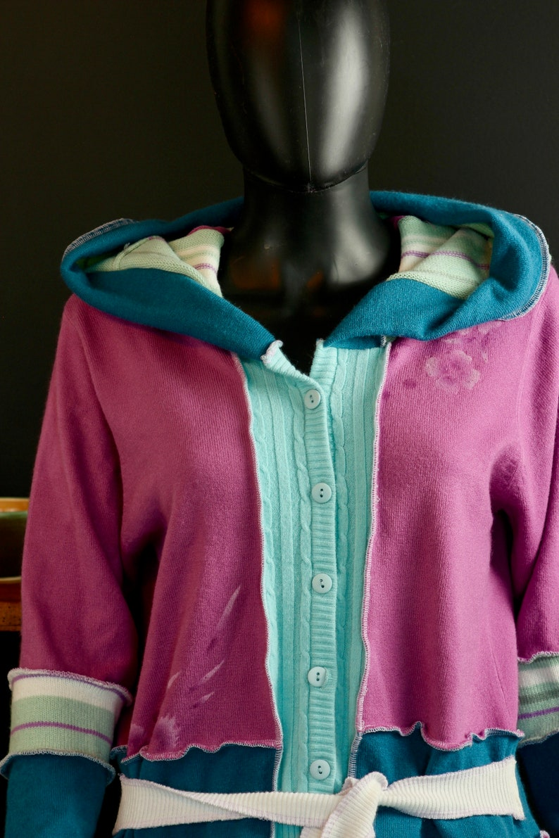 Spring Sweater Katwise Inspired Up cycled Acrylic Patchwork Sweater,Pastel Colours
