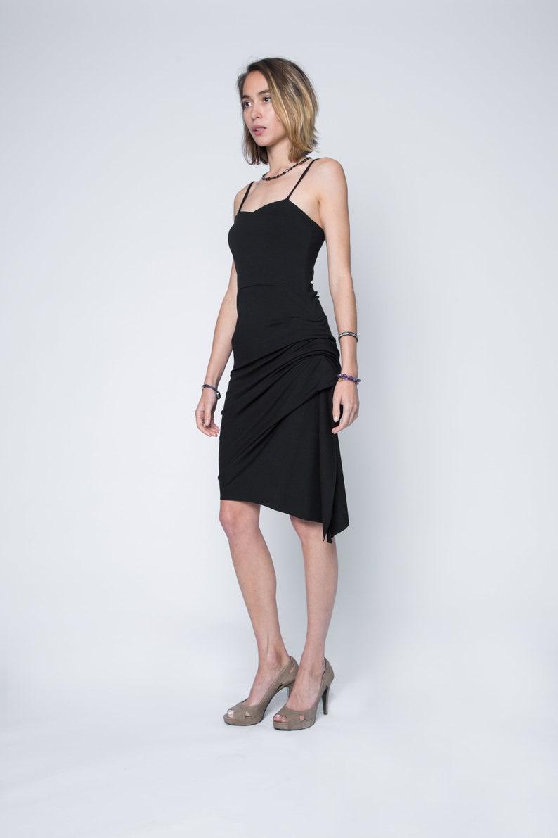 Black Tango Dress Argentine Tango Dress Wedding Guest Etsy