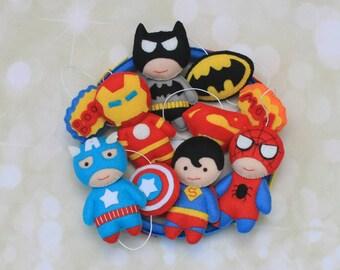 Baby mobile Superhelden mobile Krippe mobile Super-Helden mobile Marvel Avengers Mobile mobile Batman mobile Spiderman mobile Filz Babybett mobile