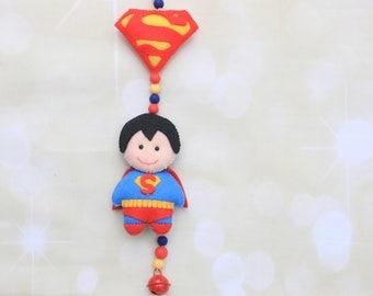 Superman pram toy Baby stroller mobile Superhero pram mobile Superman pram chain Superhero mobile stroller decoration Stroller chain