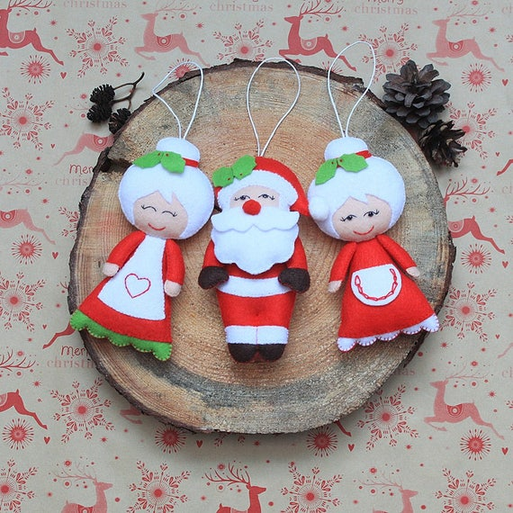 image 0 - Christmas Ornament Santa Claus Plush Stuffed Santa Claus Etsy