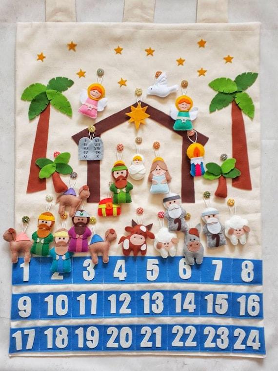 Christmas Nativity Advent Calendar Countdown Christmas Etsy