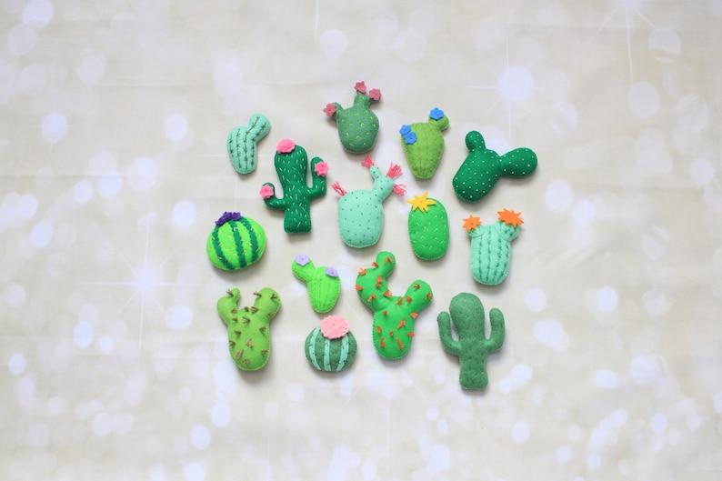 Felt Cactus Ornament Felt Succulent Stuffed Cactus Plant Faux Etsy