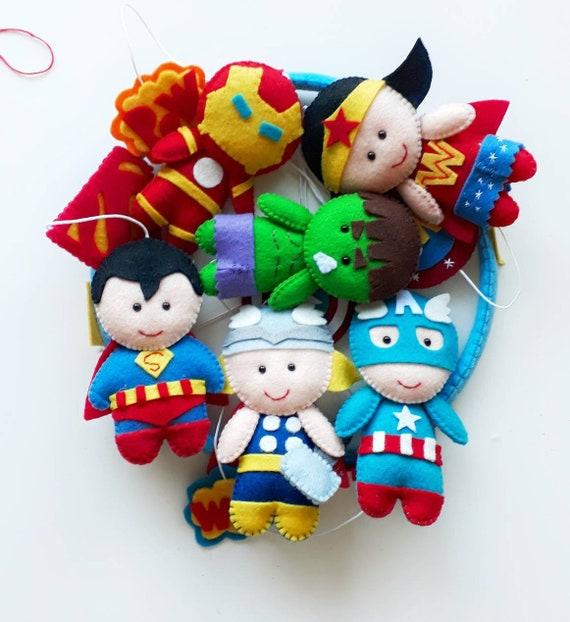 Avengers mobile, Marvel Superhero mobile, Baby crib mobile, Wonder Woman  mobile, superhero nursery, Marvel nursery, cot mobile