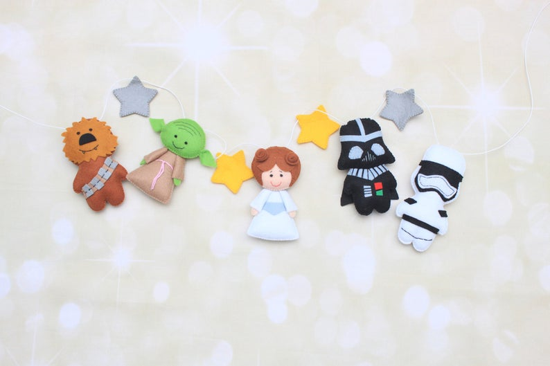 NEW STAR WARS THE FORCE AWAKENS PLUSH CHARACTER BAG CLIP CHOOSE YOUR FAVORITE