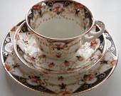 English China Imari Pattern Teacup, Saucer and Plate Trio
