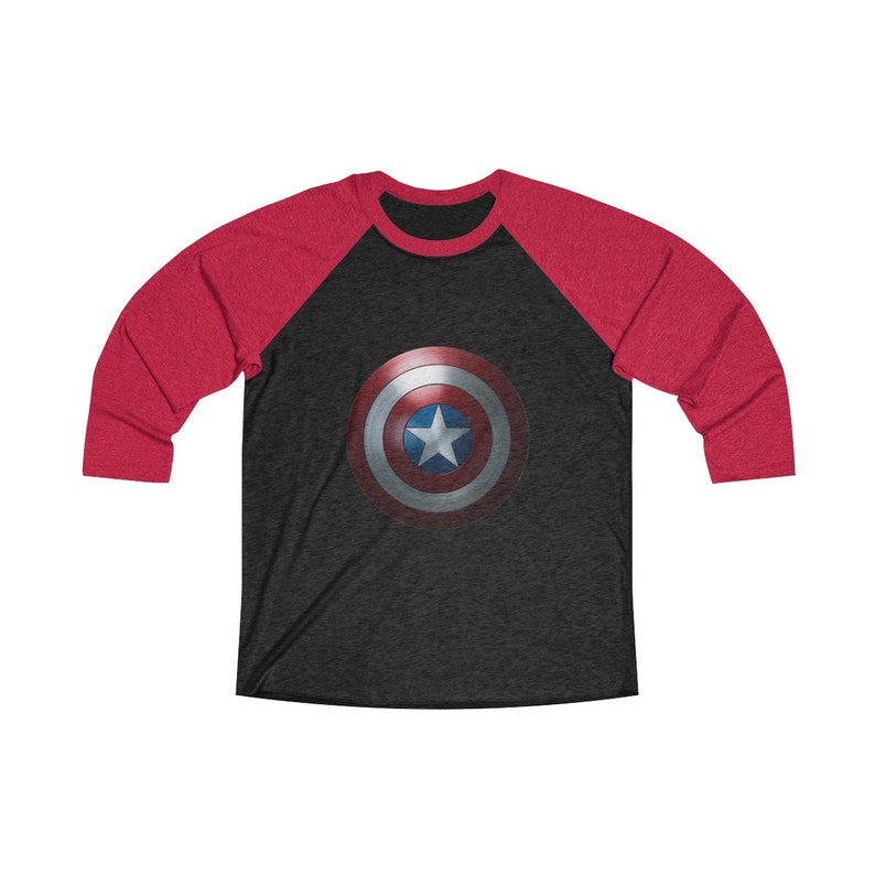 Captain America Shield Unisex Tri-Blend 3/4 Raglan Tee image 0