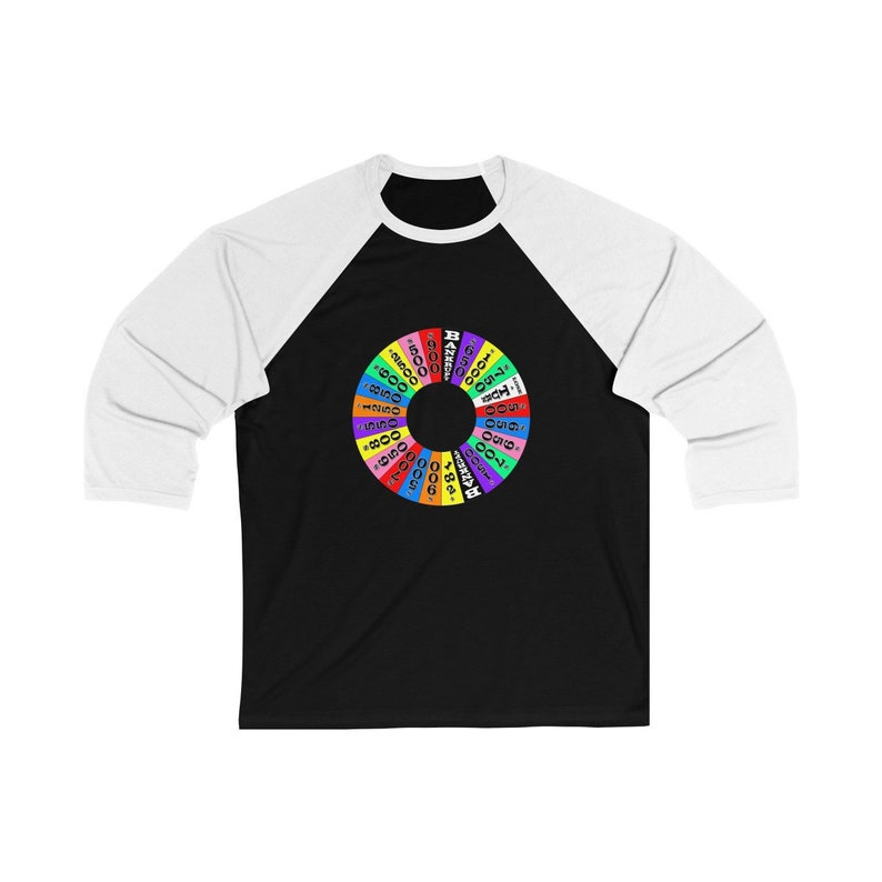Unisex 3/4 Sleeve Baseball Tee  The Wheel image 0