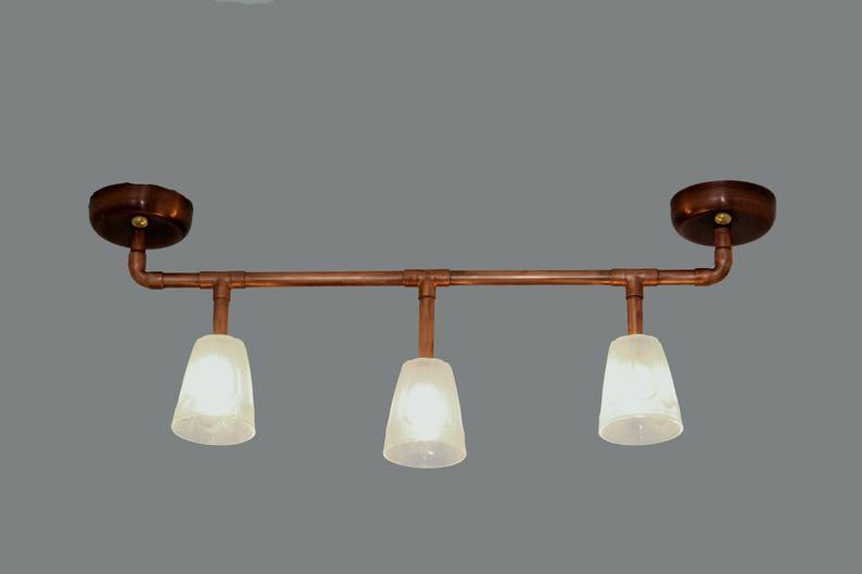 Lampade Rustiche In Rame : Lampadario a luce incompiuto che rame plafoniera stile etsy