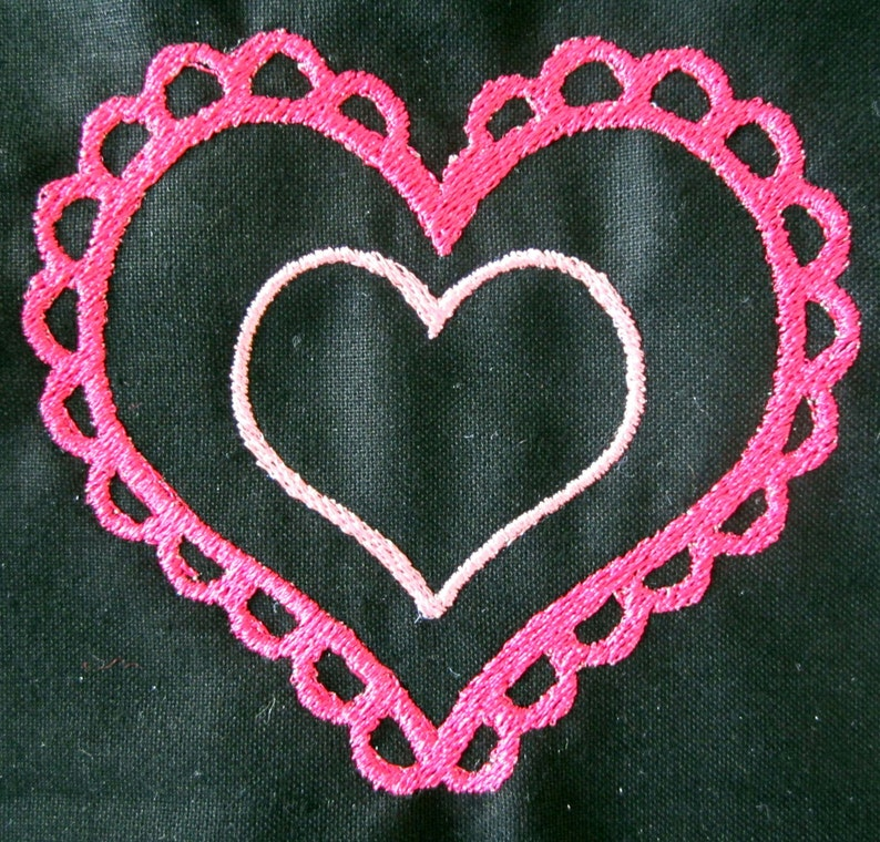 pattern instant download Machine Embroidery Design Decorative Hearts