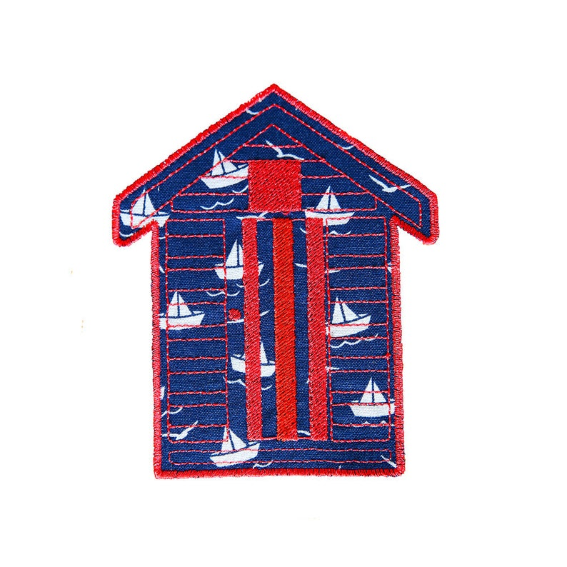 01e19049aa3 Beach Hut Applique pattern instant download Machine