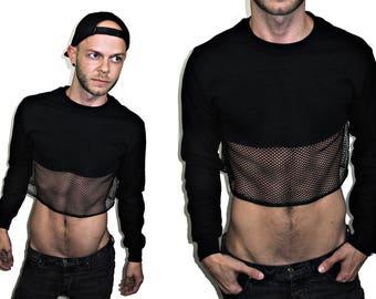 abd613af5f5ea MY Mesh Long Sleeve Crop Top