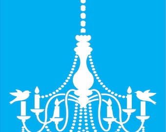 Chandelier stencil etsy chanelier with chain stencil stencil reuseable stencil chandelier stencil several sizes available aloadofball Image collections