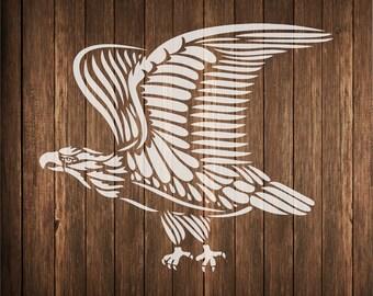 /'Hawk/' Wall Stencils WS006957 Templates