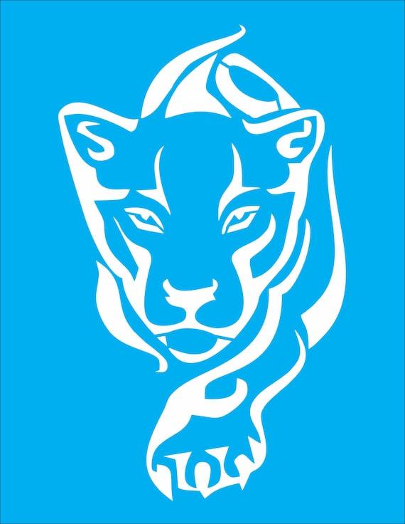 Tiger stencil - big cat stencil - cat stencil - animal stencil - leopard  stencil cougar stencil -