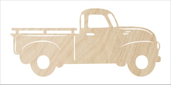 Shape college USA Made events party kids craft best selling paintable Wood weddings MDF Truck Unfinished Cutout