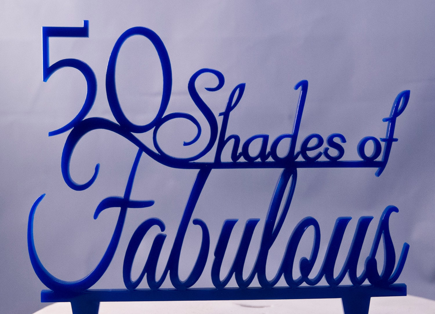 50 Shades Of Fabulous Birthday Cake Topper Anniversary Cake Etsy