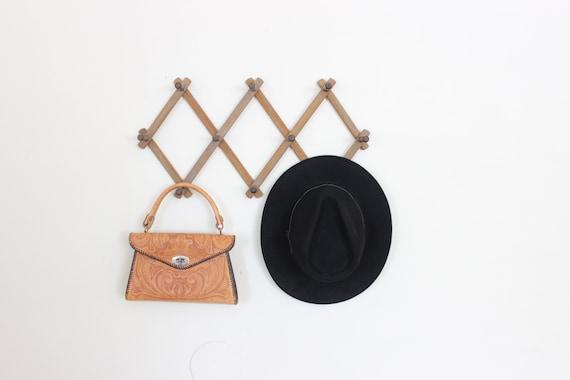 Vintage Accordion Rack Hat Rack Coat Rack Peg Hanging Rack Hat Display Wood Storage Organizer by Etsy