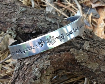 her heart was a secret garden and the walls were very high, princess jewelry, as you wish, bride jewelry, cuff bracelet, westley, buttercup