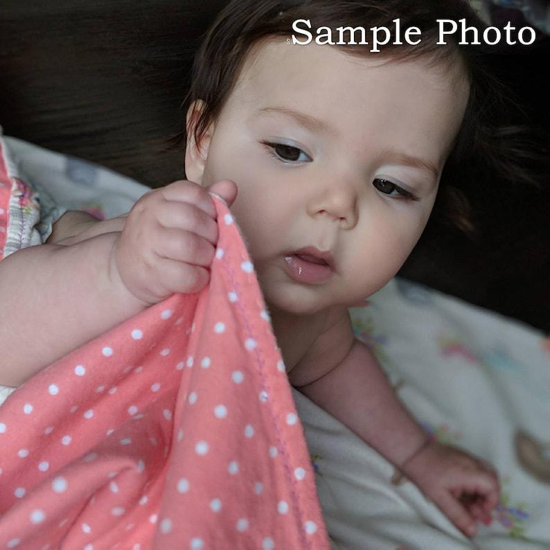 Baby Shower Gift Purple Thistles Flannel Reversible Blanket with Bonus Storage Pouch Lap Blanket