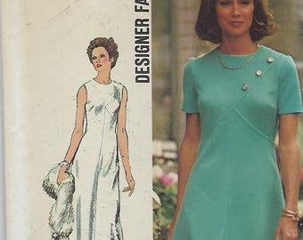 "Simplicity 5911  Misses'/ Miss Petite Dress In Two Lengths - Designer Size 16  Bust  38""  UNCUT"