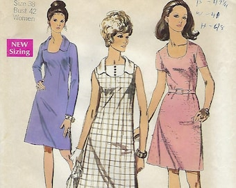 """Simplicity 8782  Misses' And Women's Dress   Bust 38"""""""