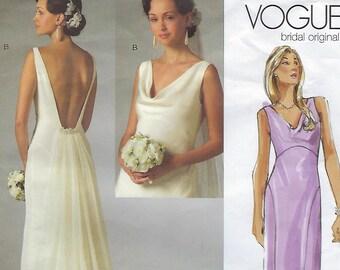 Vogue Bridal Original V2965  Misses' Dress Size (10-14)  UCNUT