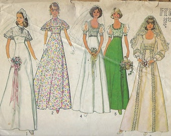 """Simplicity  6940  Misses' Bridal, Bridesmaid Or Prom Dress  Size 10  Bust 32.5"""""""