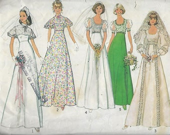 """Simplicity  6940  Misses' Bridal, Bridesmaid Or Prom Dress  Size 14  Bust 36"""""""